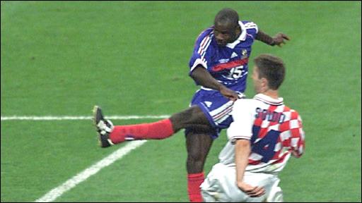 Image result for france vs croatia 1998