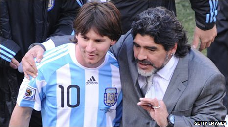 Leo Messi i Maradona