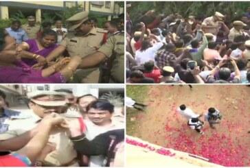 एनकाउंटर पर खुशी से झूम उठे हैदराबाद के लोग
