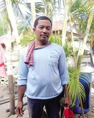 ALEJO Gratico, chair of Barangay Day-asan Lobster Culture Association    photo by MA. CECILIA RODRIGUEZ