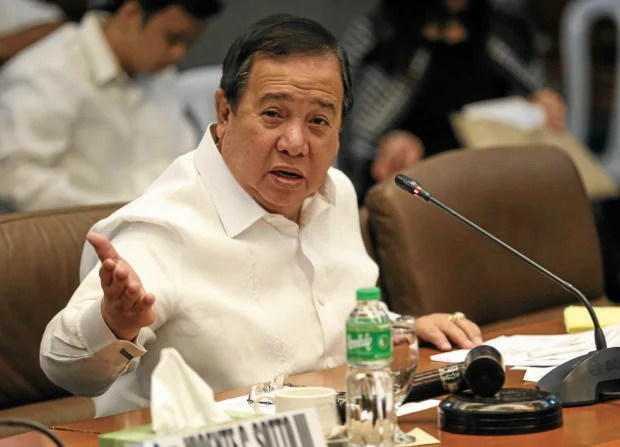 JANUARY 31, 2017 Sen. Dick Gordon presiding over the Senate Committee on Accountability of Public Officers and Investigations' second public hearing on the Jack Lam alleged bribery scandal. INQUIRER PHOTO/LYN RILLON