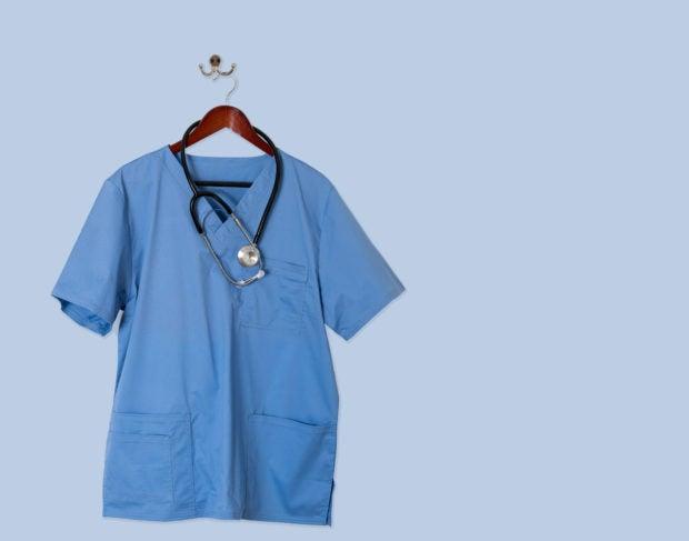 blue medical scrubs