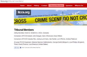 2012 ITCCS website contradicts Kevin Annett denials, lists ITCCS Juror Alex Hunter, ITCCS Organizer Mel Ve, George Dufort