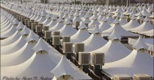 100,00 Air conditioned Haj tents to accommodate 3 million refugees in MIna, Saudi Arabia