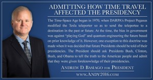 Andy 2016-Admitting Time Travel Affected Presidency