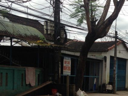 Street scape in Quang Nam province. (Diana Nelson Jones/Post-Gazette)