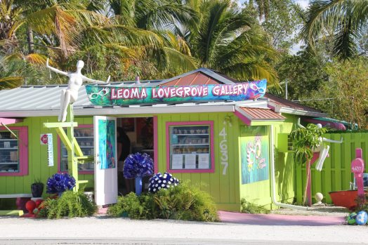 The main road running through Matlacha on Pine Island in Southwest Florida is lined with colorful shops that were once fishermen's shacks. (Patricia Sheridan/Post-Gazette)