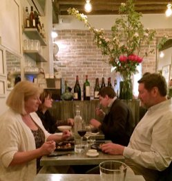 """Inside the """"Frenchie"""" the original restaurant started by chef and owner Gregory Marchand on tiny Rue Du Nil. It added Frechie Wine Bar across the street and Frenchie to Go next door. (Patricia Sheridan/Post-Gazette)"""