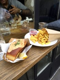 The lobster roll at Frenchie to Go that Ina Garten enjoyed. (Patricia Sheridan/Post-Gazette)