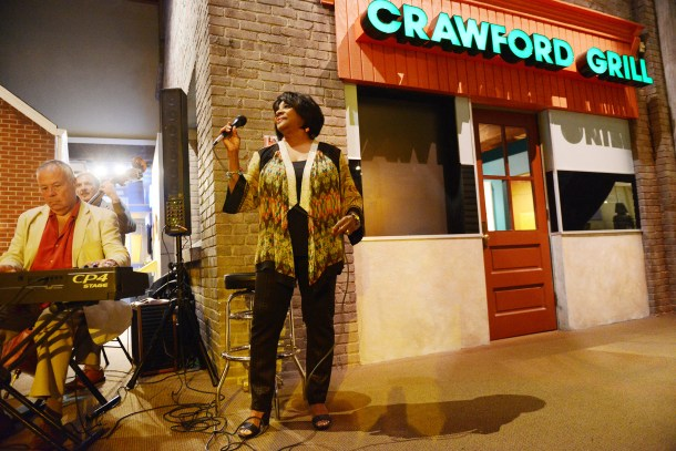 Etta Cox performs at Pittsburgh's Bicentennial Birthday Bash near a re-creation of the Crawford Grill at the Heinz History Center in July 2016. She performed once at the real Crawford Grill in the Hill District. (Rebecca Droke/Post-Gazette)
