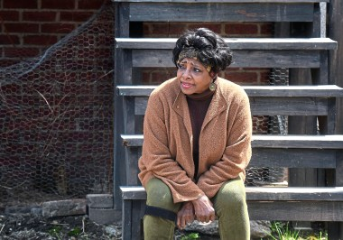 "Etta Cox as ""Ruby"" during a rehearsal Sunday, April 22, 2018, of a Pittsburgh Playwrights production of ""King Hedley II"" at August Wilson's boyhood home in the Hill District. (Nate Guidry/Post-Gazette.) (Nate Guidry/Post-Gazette.)"