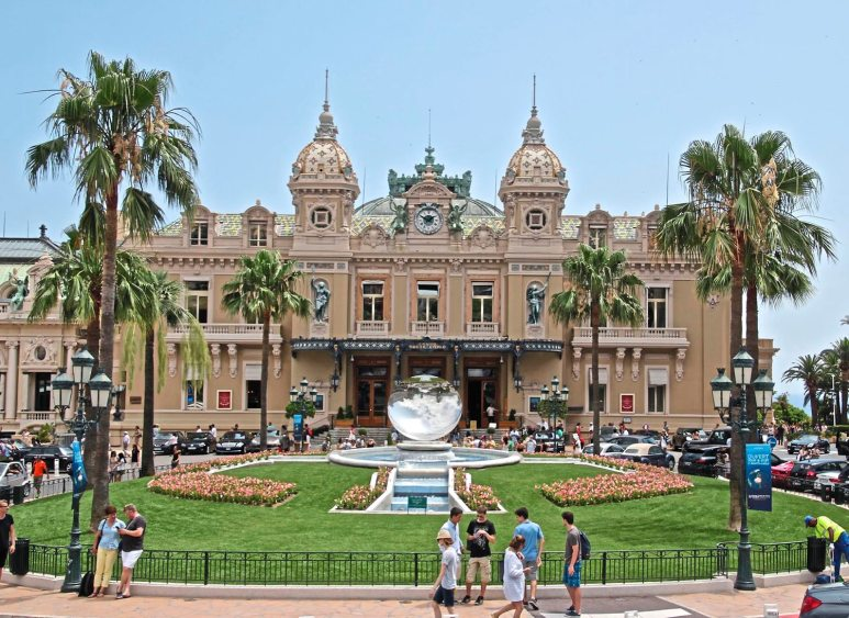 The famous Casino Monte Carlo with the reflection ball in the green space in front. (Patricia Sheridan/Post-Gazette)