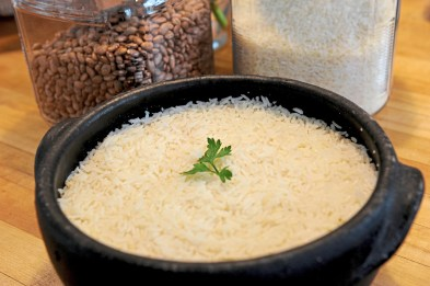 Rice prepared by Keyla Nogueira Cook. (Pam Panchak/Post-Gazette)