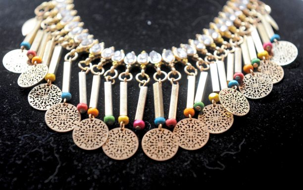 Unique jewelry at Whimsy on Fifth on Fifth Avenue in Oakland. (Pam Panchak/Post-Gazette)
