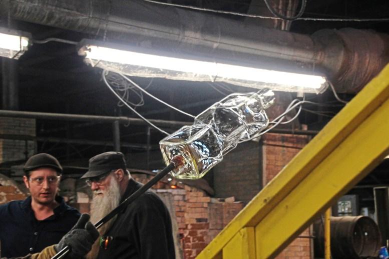 The new prototype takes shape at Blenko Glass. (Patricia Sheridan/Post-Gazette)