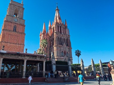 Distinction The spires of the pink San Michael the Archangel cathedral in the main plaza of San Miguel de Allende, Mexico. credit Patricia Sheridan