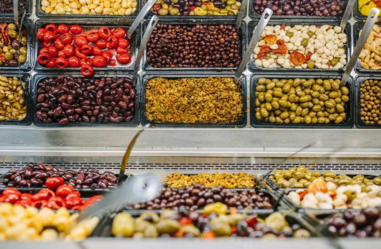 The olive bar at DeLallo Italian Marketplace in Jeannette can be seen on January 22, 2016. The store features a king-sized version of the company's popular olive bar that can be seen nationwide at various grocery stores.