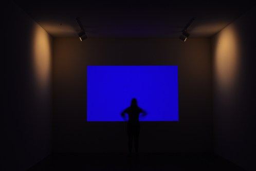 """""""Danae,"""" a light work by James Turrell that is in the permanent collection of the Mattress Factory museum. (Lake Fong/Post-Gazette)"""