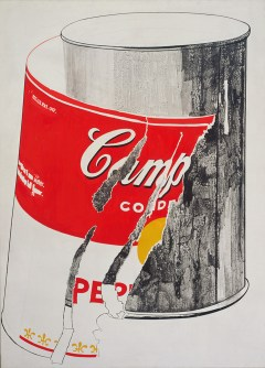 "Andy Warhol, ""Big Torn Campbell's Soup Can (Pepper Pot),"" 1962, The Andy Warhol Museum, Pittsburgh, © The Andy Warhol Foundation"