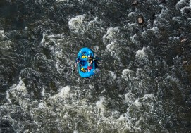 Whitewater adventurers raft on the Youghiogheny River at Ohiopyle State Park Wednesday, August 30, 2017. (Lake Fong/Post-Gazette)