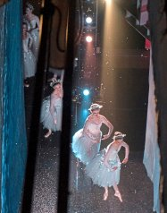 """Ballerinas dance onto the stage under a shower of snow, made from flame-resistant paper, at a dress rehearsal of """"The Nutcracker"""" on Thursday, Nov. 30, 2017, at the Benedum Center, Downtown. (Haley Nelson/Post-Gazette)"""
