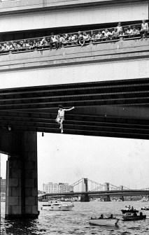 Bridge Jumpers (Photo by Anthony Kaminski, Pittsburgh Press).