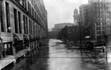 Joseph Hornes store downtown under water (The Pittsburgh Press photo)
