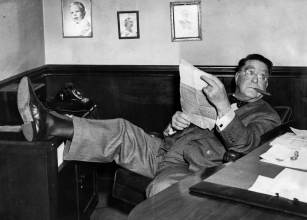 Rickey in his Forbes Field office in December of 1952. (Photo credit: Unknown)