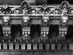 Architectural detail from the Peoples Bank Building. (Pittsburgh Press photo by Anthony Kaminski)