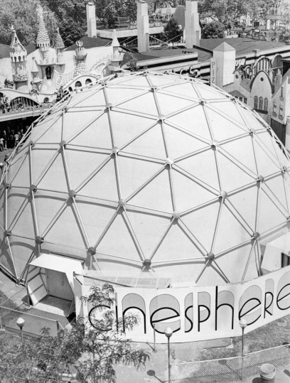 Cinesphere at Kennywood is stealing roller coaster's screams, May 1977. (Robert J. Pavuchak/The Pittsburgh Press)