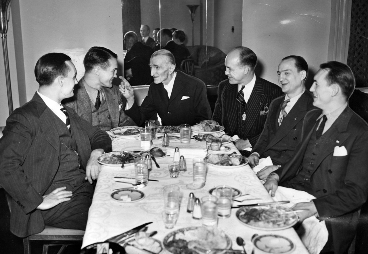Inventor Nikola Tesla gave the fighting Zivic brothers a luncheon in New York after Fritzie retained his welterweight champions. (Photo credit: Unknown)
