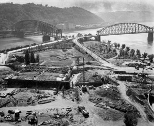 By 1956, a small park had emerged at the Point (Pittsburgh Press)