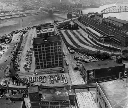 The Point in 1951, before demolition work. (Pittsburgh Press)