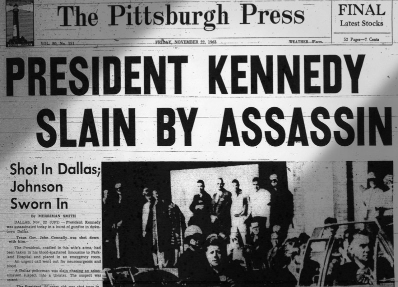 The Pittsburgh Press on the day of the assassination.