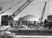By November 1963, the Sun-Telegraph building was a pile of rubble. (Al Hermann/Post-Gazette)
