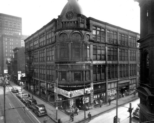Gusky department store once sat on the location. (Photo credit: Unknown)