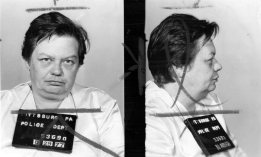 Police mug shot of Gill in 1977.
