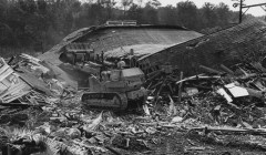 Sept. 3, 1980: After a fire, final demolition began on the remains of West View. (Kent Badger/The Pittsburgh Press)