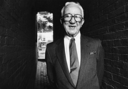Fitzpatrick at his home in 1988. (Tom Ondrey/The Pittsburgh Press)
