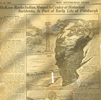 Newspaper article about the mound in 1926.