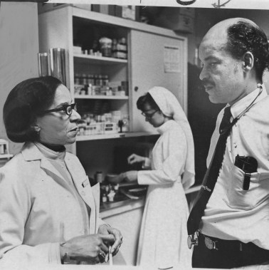 March 22: 1970: Thelma Lovette, a social worker, Sister Celeste, a nurse and Dr. James A. Stewart work in a medical clinic at Hill House in the Hill District. (Michael Chikiris/The Pittsburgh Press)
