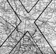 February 8, 1978: A 1978 map shows corridors in North Hills where UFO sightings are most frequent.