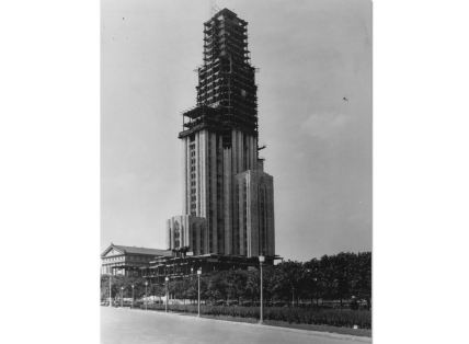 1930: The Cathedral of Learning construction. (University of Pittsburgh archives)