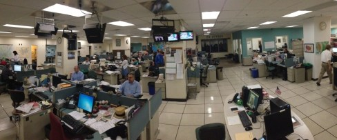 2014: A look at the former Pittsburgh Press and current Post-Gazette newsroom. (Ethan Magoc/Post-Gazette)