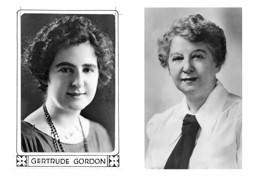 A young Gordon, left, and then in 1948. (Pittsburgh Press photos)