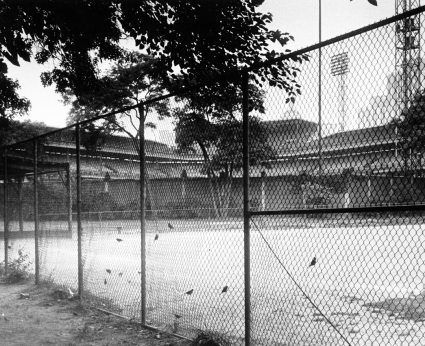 An early morning picture of Forbes Field, dated July 24, 1967. (Al Hermmann/The Pittsburgh Press)