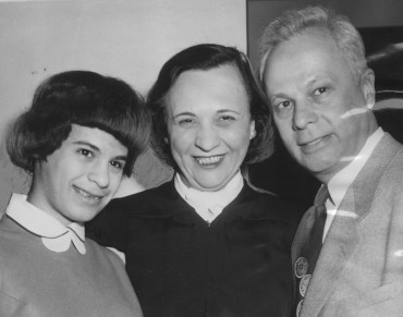 This photo shows Anne X. Alpern, her daughter, Marsha Ellen and Irwin A. Swiss, husband of the judge.