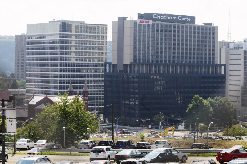 September 2014: One Chatham Center, seen in the week during which it faced foreclosure problems. (Bill Wade/Post-Gazette)