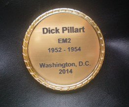 2014: The crew received these coins at the 38th and final reunion. (Courtesy of Dick Pillart)