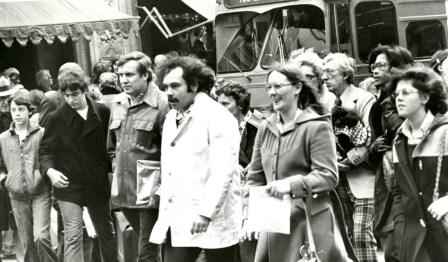 Black Friday shoppers Downtown Pittsburgh (Morris Berman/Post-Gazette, November 26, 1976)
